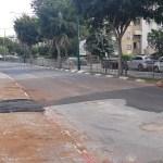 עבודות ברחוב הרב קוק בהרצליה
