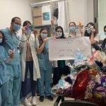 פעילות של תלמידי גורדון מהרצליה במחלקת קורונה במאיר