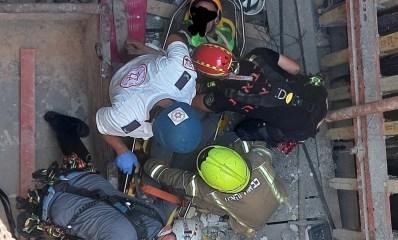חילוץ פועל בניין