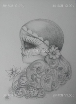 Day of the Dead Sketch Drawing