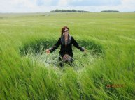 Me on my trip to England two years ago in the middle of a crop circle!