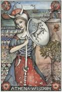 Athena is the Greek virgin goddess of reason, wisdom, arts and literature.