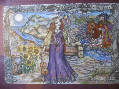 A pen and ink artwork I did in my early years of the Goddess Brigid. I did a new version of brigid years later.