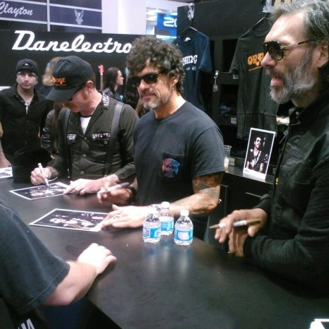 EODM signing at Orange Amplifiers booth