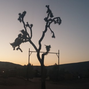 Pioneertown at sunset