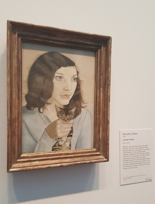 Girl with a Kitten by Lucien Freud, 1947