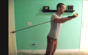 David Chapman, Costo sufferer, shows how to use resistance bands