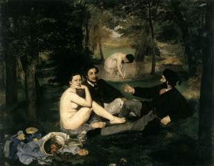Luncheon on the Grass (Le Déjeuner sur l'herbe) by Manet 1863
