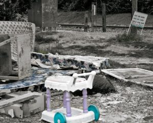 ash creek trailer park, abandoned