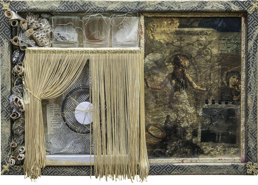 reliquary of communion host and earth, wind, fire
