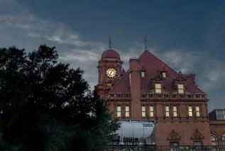 Main Street Station in Richmond, VA at dusk