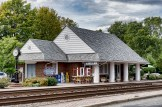 The train station and visitor's center in Ashland, VA.
