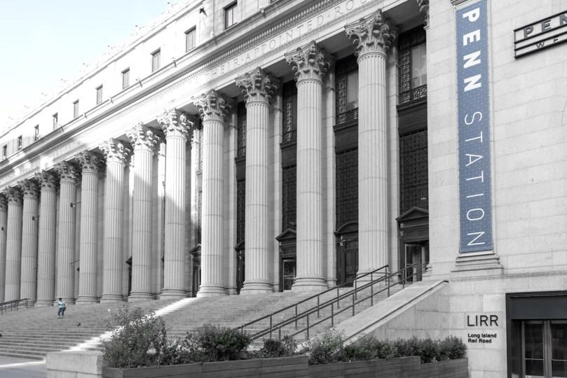 Penn Station Steps by Sharon Popek