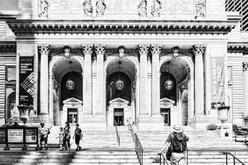 NYC Library bw by Sharon Popek
