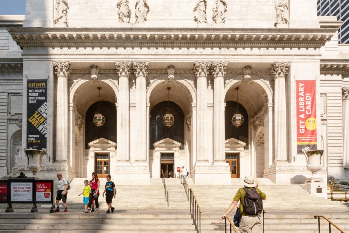 NYC library by Sharon Popek