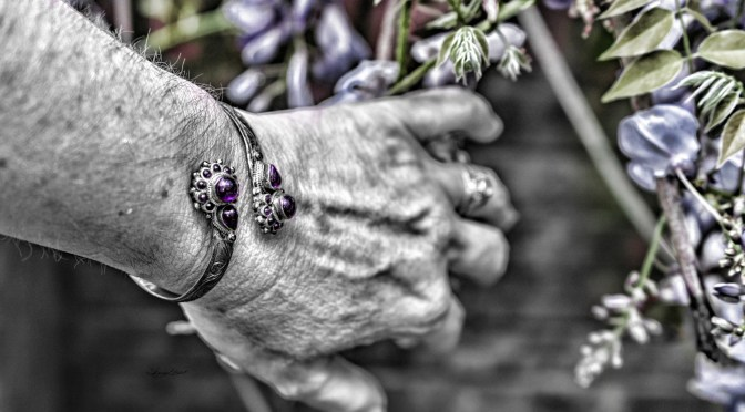 Purple bracelet by Sharon Popek