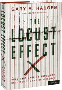 Locust Effect of Violence on Poverty