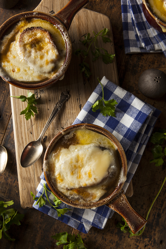 Sharon Santoni from My French Country Home sharing with you a delicious soup recipe for a French Classic: French Onion Soup