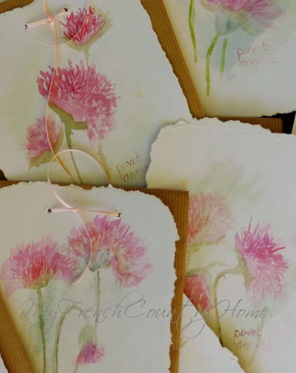 handpainted lables on seed packets