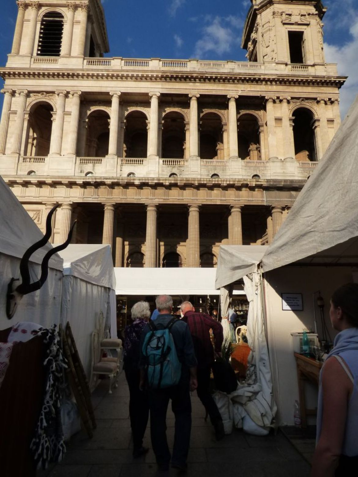 antique fair outside st sulpice church, paris 6eme