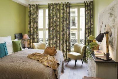 green bedroom at le petit chomel