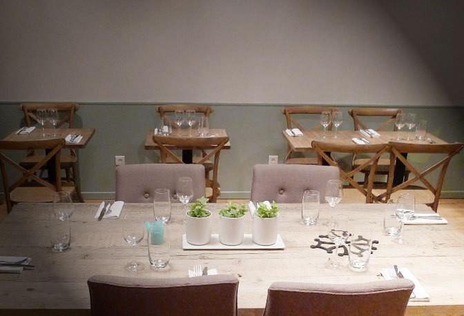 tables set for lunch at le bouillon paris