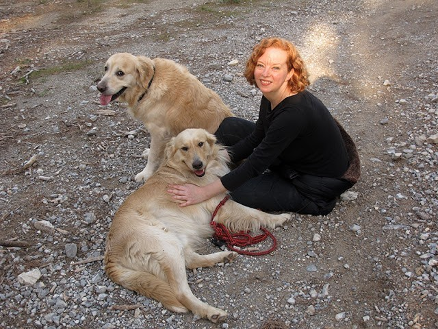 heather robinson with her two dogs