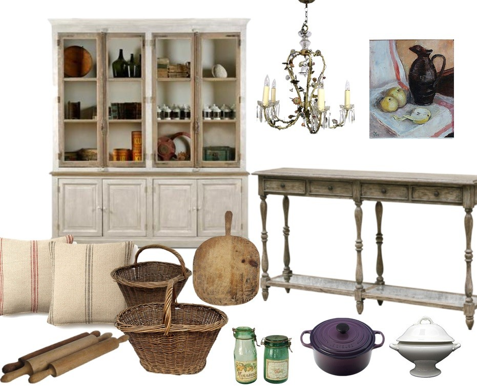 french country kitchen moodboard