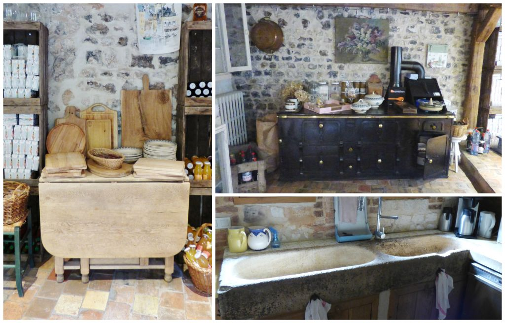 boards, stove and sink in old kitchen