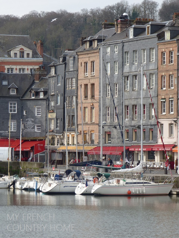 boats in the port of honfleur