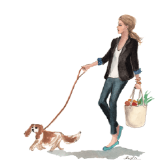 logo shannon ables walking her dog