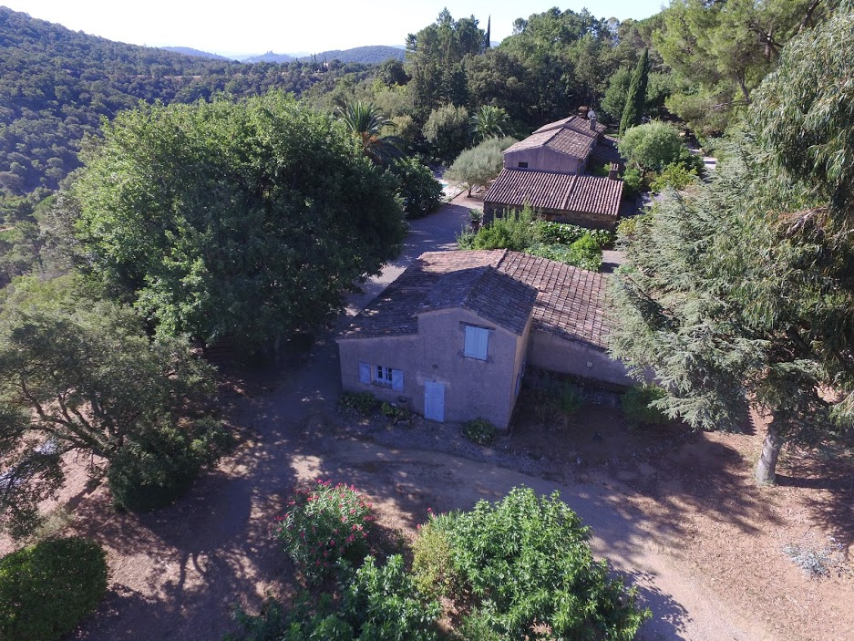 aerial view of house for sale in south of france