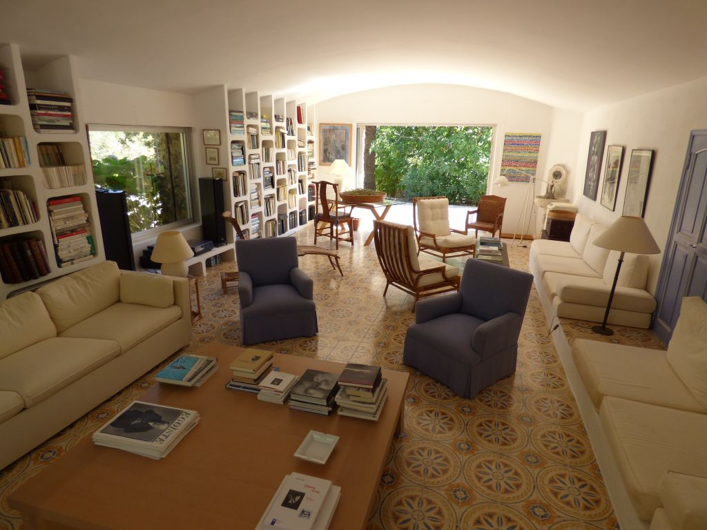 summer living room in south of france