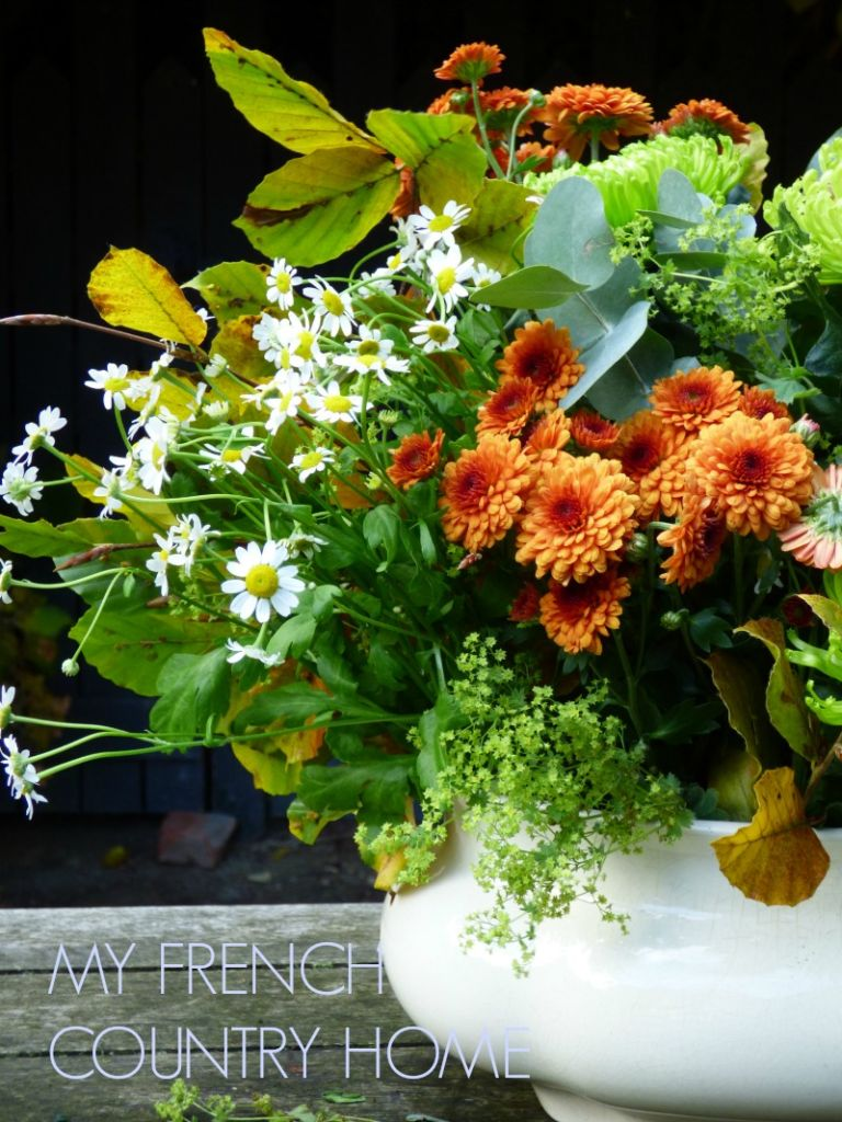 autumn bouquet with bronze flowers