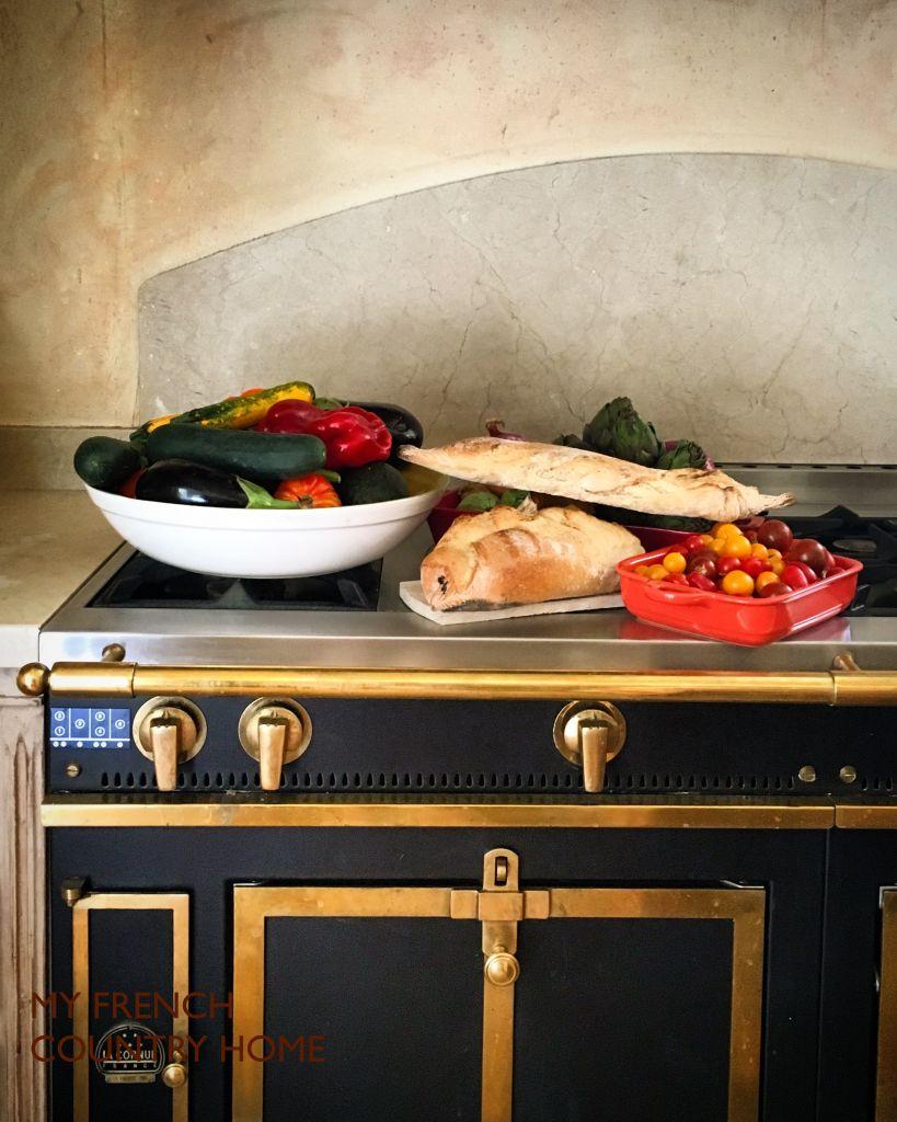 food on top of la cornue stove