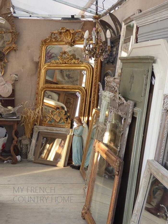 mirrors at antique fair