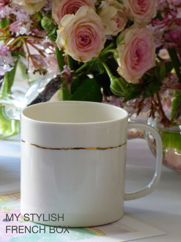 white coffee cup in My Stylish French Box