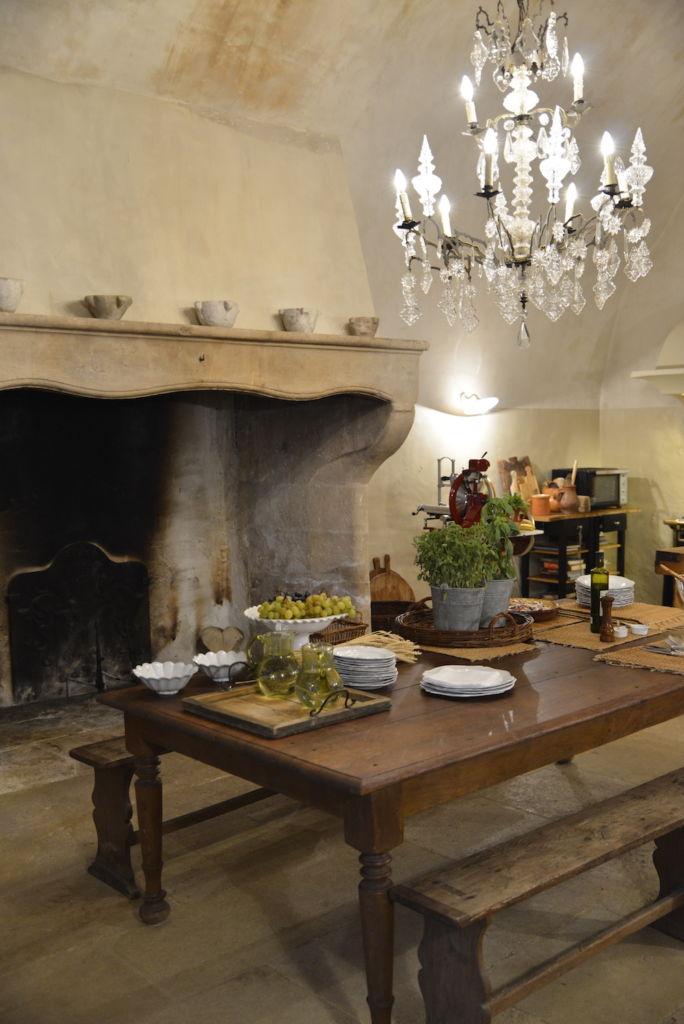kitchen chateau de moissac, south of france