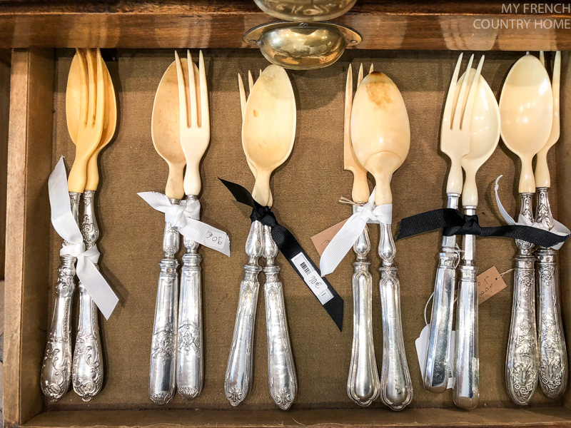Utensils at Maison du Bac- MY FRENCH COUNTRY HOME