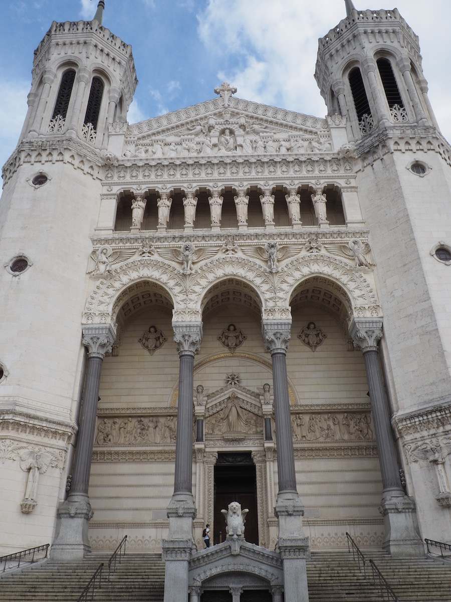 visiting lyon My French Country Home the front of the Basilica in Lyon