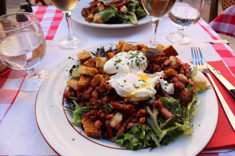 visiting lyon My French Country Home Salade Lyonnaise