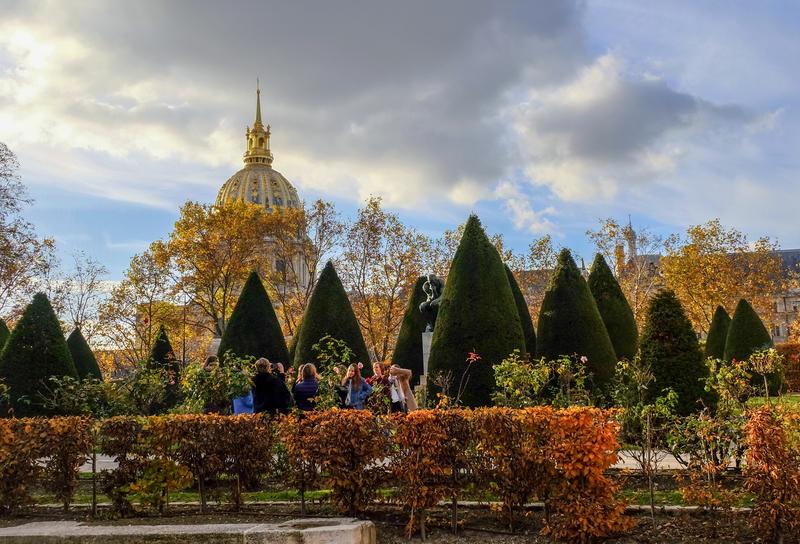 autumn view of rodin museum garden
