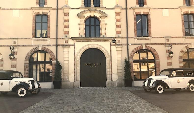 courtyard at boizel champagne