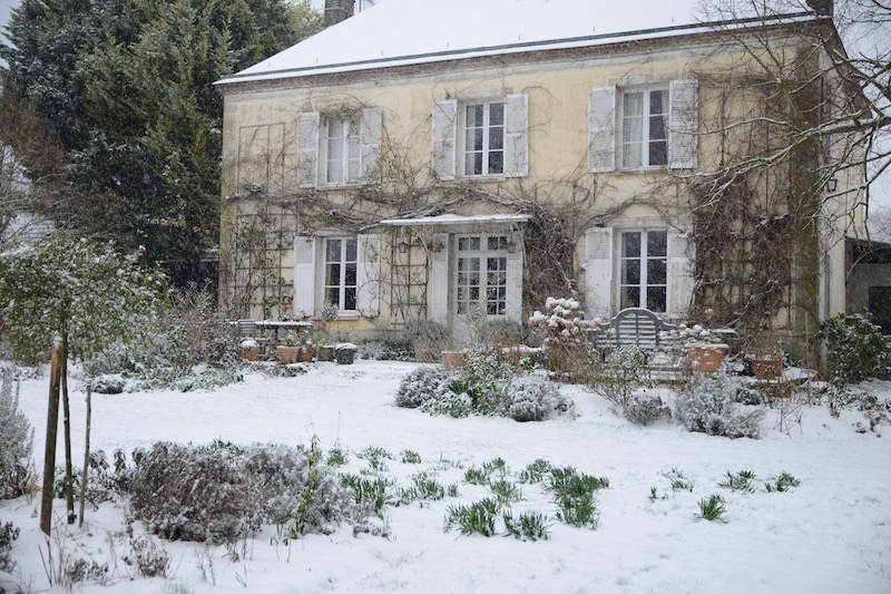 The house and garden covered with snow- looking forward to christmas with the family- MY FRENCH COUNTRY HOME