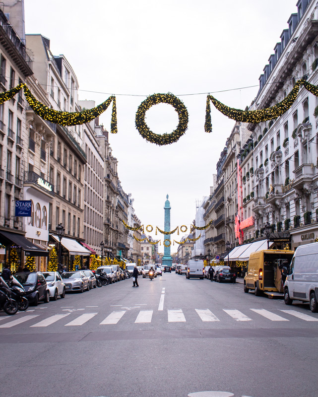 Rue de la Paix- paris decorated for christmas- MY FRENCH COUNTRY HOME