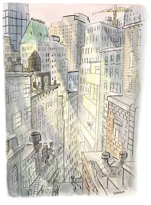 new york building views- jean-jacques sempé, artist and poet- MY FRENCH COUNTRY HOME