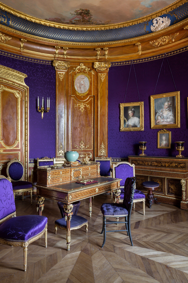 The Duchess' Violet Room at Chateau de Chantilly | Grand Opening of the newly Remodeled 19th century apartments | My French Country Home