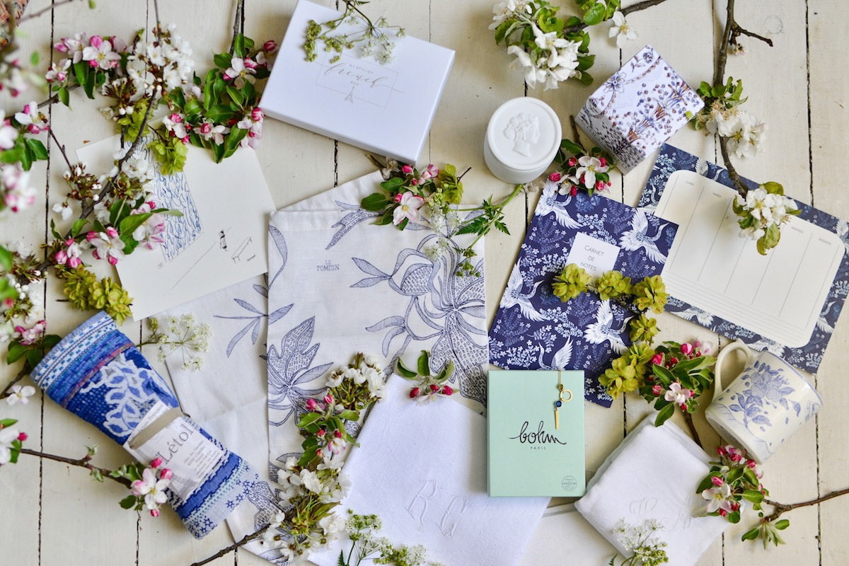 blue and white box- may 2019- my stylish french box- hero shot