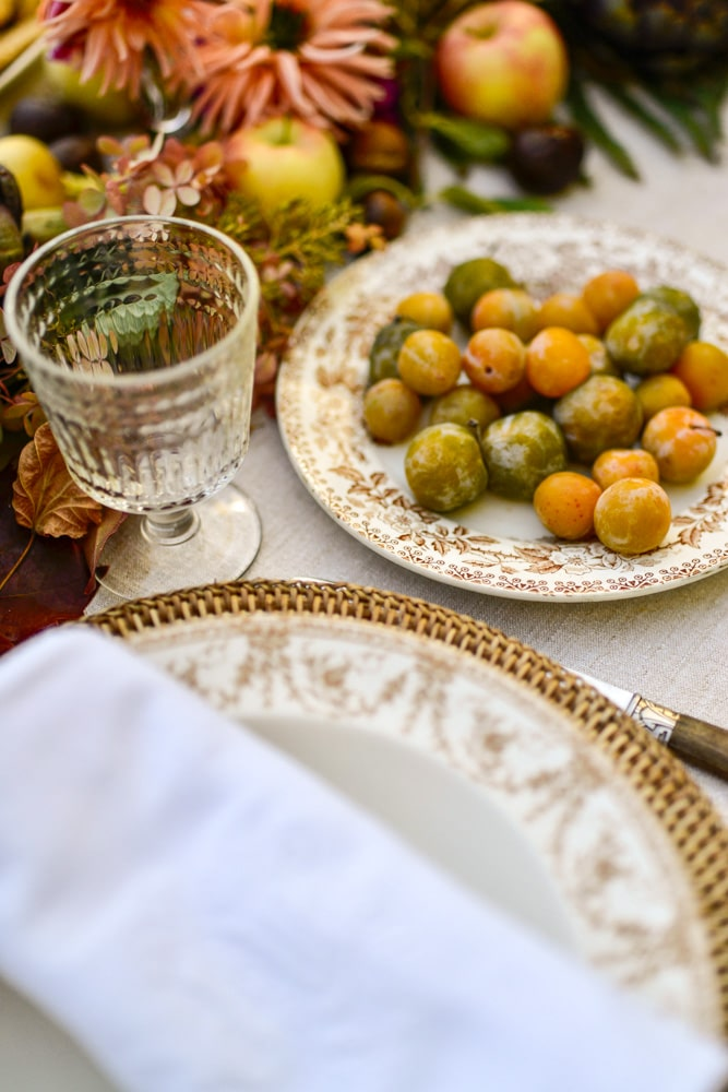 mirabelle plums for my fall table- MY FRENCH COUNTRY HOME