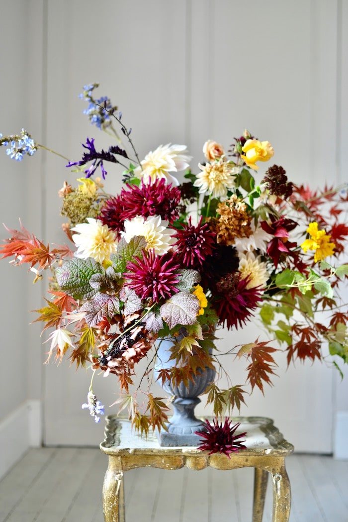 bouquet with autumn flowers